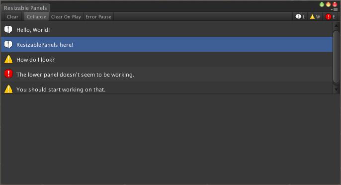 Creating a Clone of Unity's Console Window - GramBlog