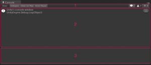 Unity's console window